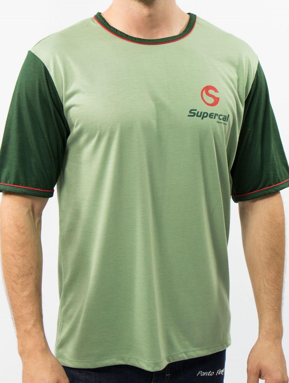 Camiseta Pv Básica Viés Duplo