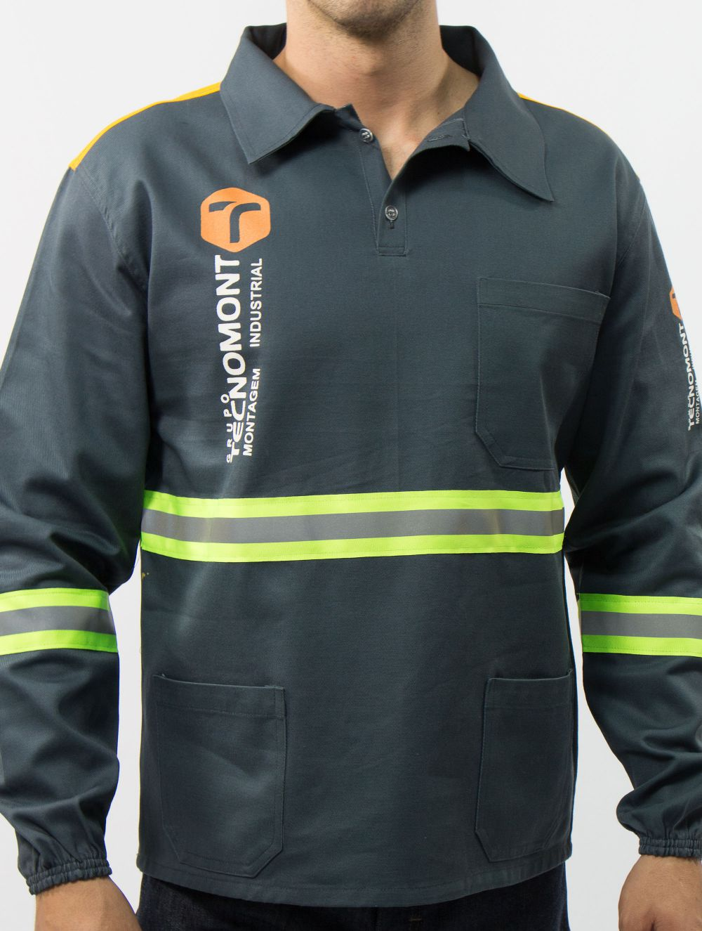 Camisa Operacional com Refletivas 5,0 cm Verde