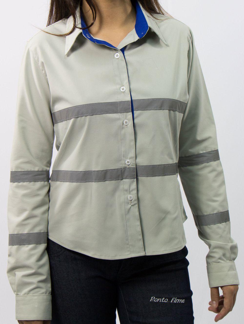 Camisa Social Operacional com Refletivas