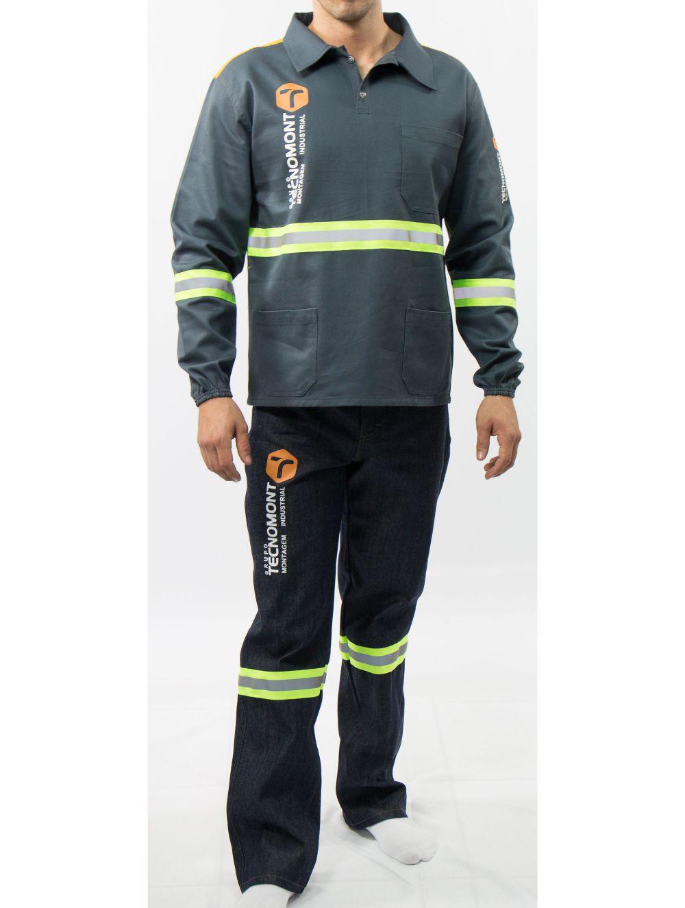 Camisa em Brim pesado / Calça operacional com re...
