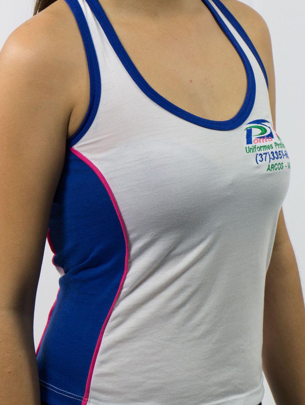 Camiseta Regata com Recorte Lateral